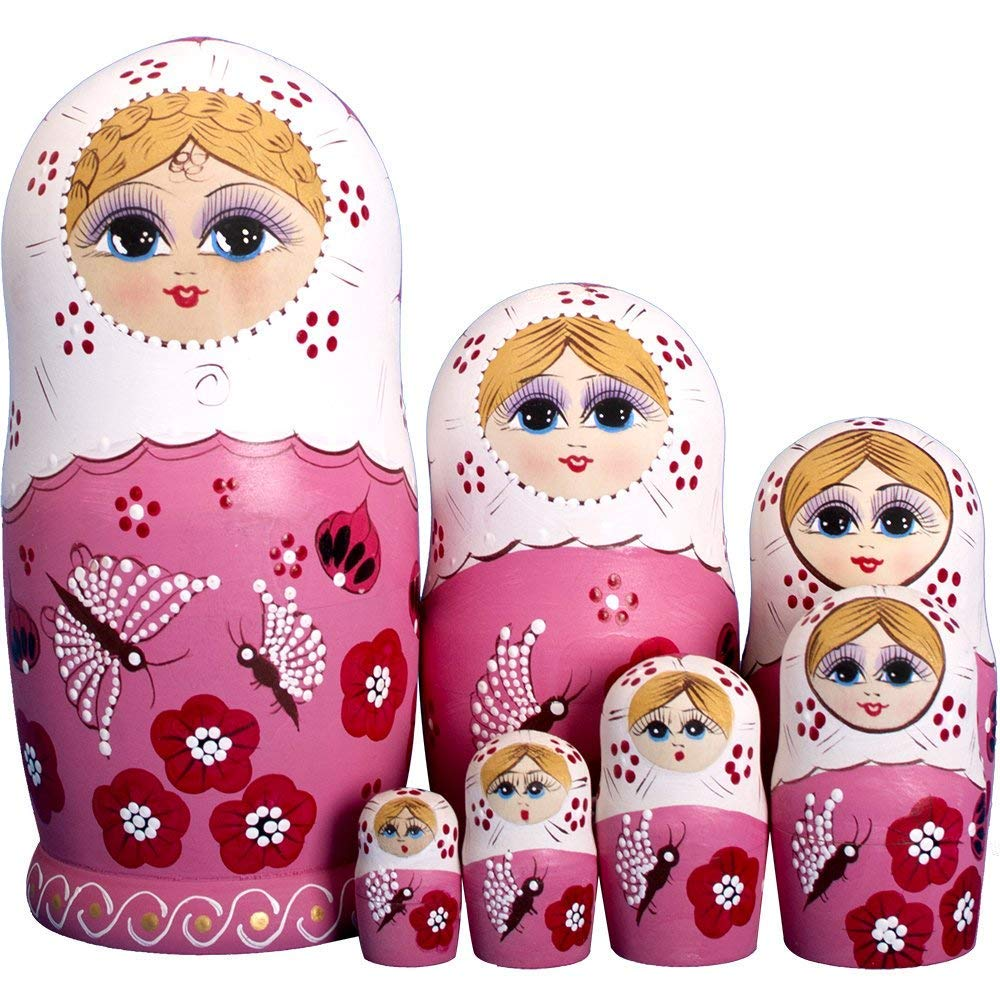 RAILONCH 7 Stü cken Matroschka Handgemacht Das Lindenholz Geschenk Spielzeug Dolls Marionette Geschenk Souvenirs