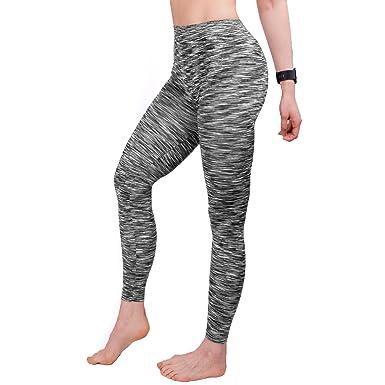 GoVIA 3 4 et 7 8 Legging pour Femme Pantalon de Course à Pied Pantalon de  Sport Respirant Pantalon de Yoga Fitness Taille Haute Long Rayures 4103  ... f071a5ca43d1