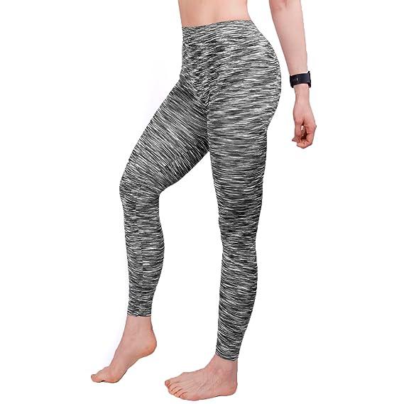 GoVIA 3  4 y 7  8 Leggins para Damas Pantalones Deportivos Largos para  Training Running Yoga Fitness Transpirables con Cintura Alta 4103 34b9086cd198