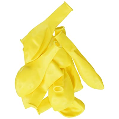 "Qualatex 43678 Citrine Yellow Latex Balloons, 9"", Yellow, Pack of 100: Toys & Games"