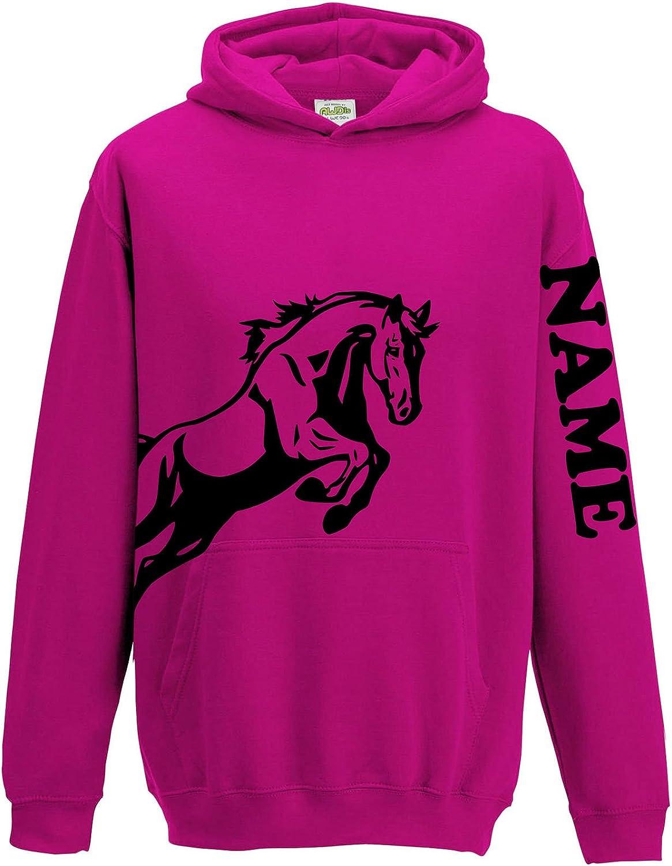 Children/'s Personalised Photo Equestrian Horse Hoodie Customised