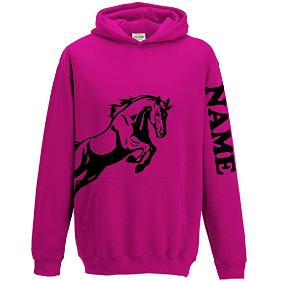8cbce598337f FunkyShirt Personalised Equestrian Hoodie Horse Riding Hoody for Girls   Amazon.co.uk  Clothing