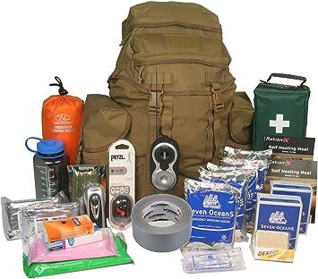 EvaQ8 - Kit de supervivencia para 2 personas, para 72 horas, de calidad, bolsa para emergencias y catástrofes: Amazon.es: Bricolaje y herramientas