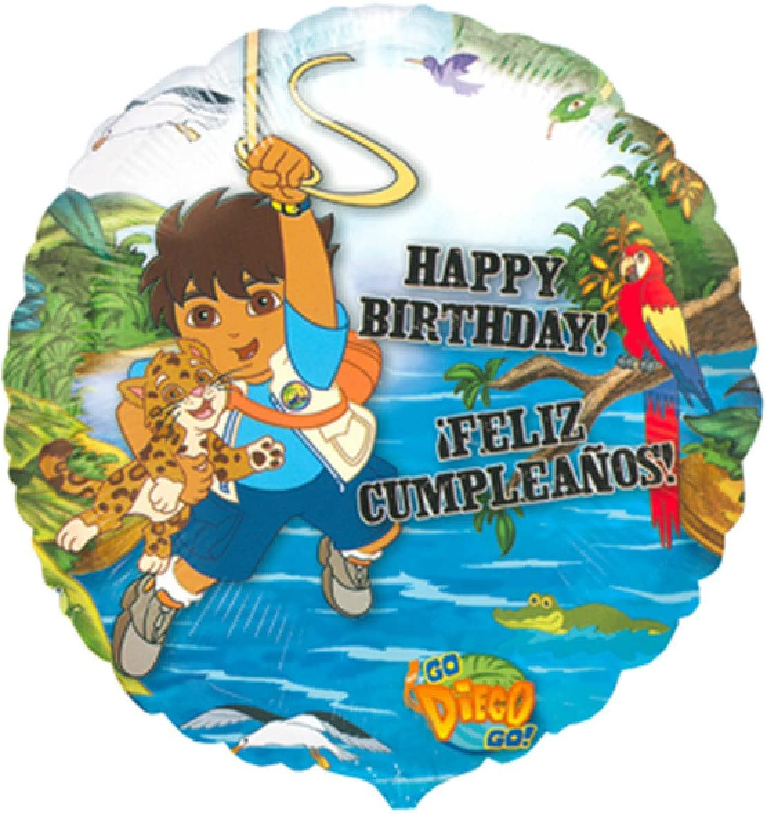 Amazon.com: DIEGO JUNGLE HAPPY BIRTHDAY party BALLOON dora ...