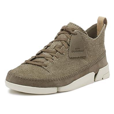 CLARKS Mens Grey Trigenic Flex Sneakers-UK 6