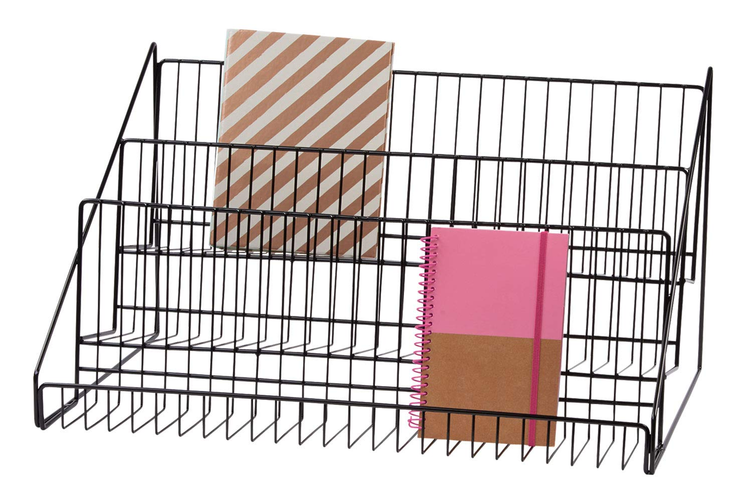 SSWBasics 3-Tier Black Wire Countertop Rack - 12¾''H x 23½''W x 14'' D by SSWBasics