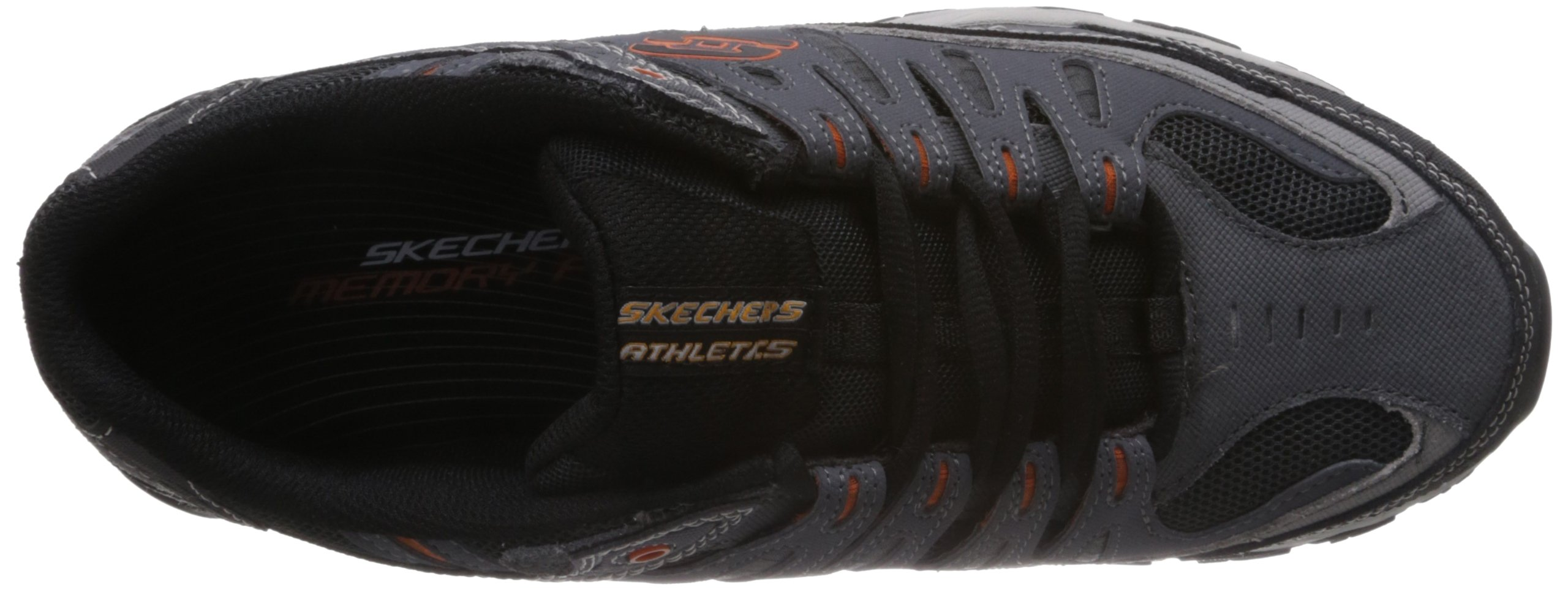 Skechers Sport Men's Afterburn Memory Foam Lace-Up Sneaker, Charcoal, 7 M US by Skechers (Image #7)
