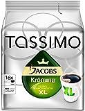 Tassimo Cápsulas de Café Jacobs Krönung XL, Café Molido de Tueste Natural, Certificado Rainforest Alliance, 5 x 16 T-Discs