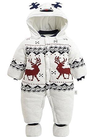 ae83b7963 Amazon.com  NATAY Newborn Baby Boys Girls Christmas Cartoon Deer ...