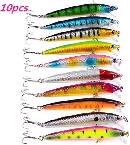 Top water Bass Hard Tackle Baits Hook Popper Fishing Lures Crankbaits Minnow