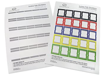 amazon com customizable index tab stickers for planners agendas
