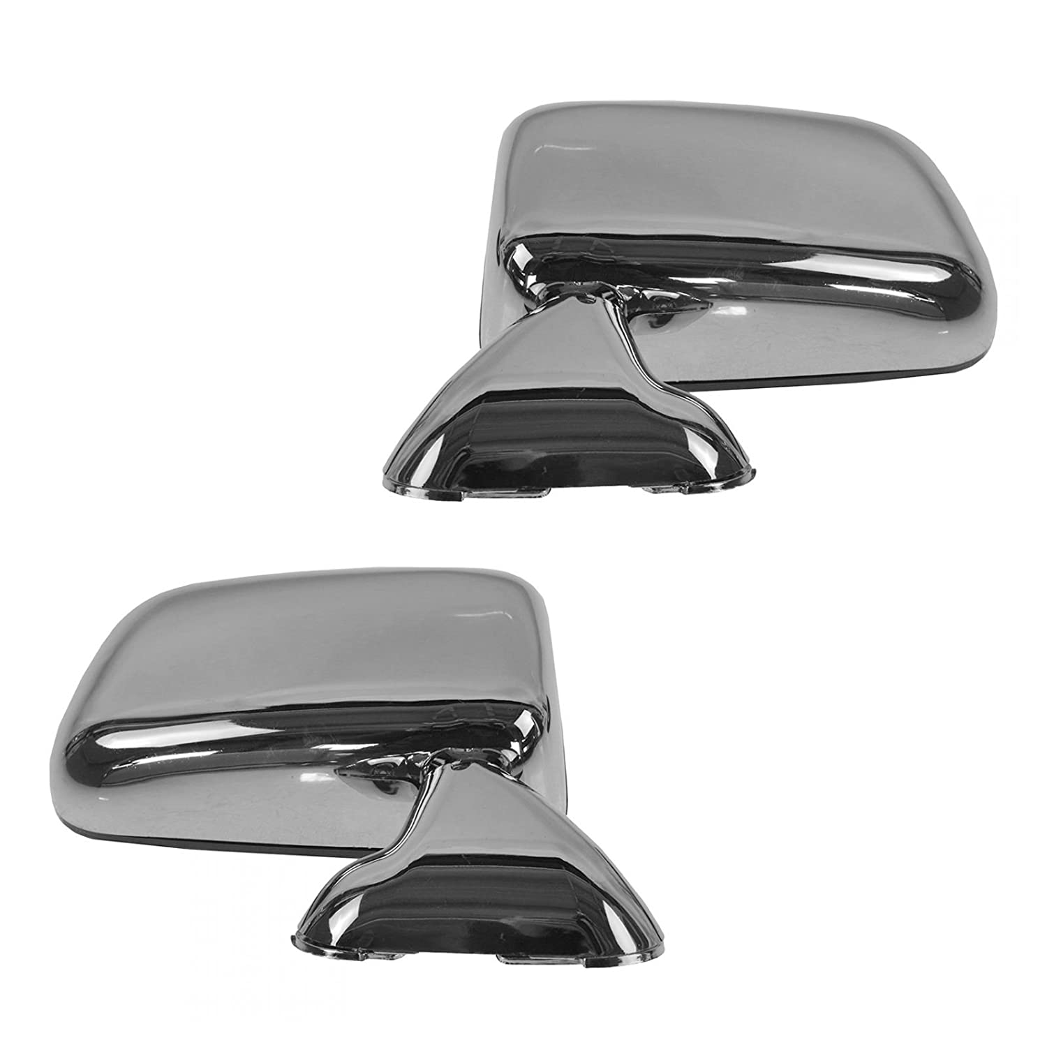 Manual Side View Mirrors Chrome Pair Set for 87-88 Toyota Pickup Truck 4Runner AM Autoparts