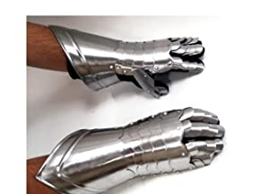 Metal Armour Hand Gloves Pair with Inviting Decor Appeal-(36302)