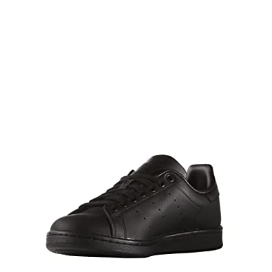 brand new c60c7 6e0a2 Amazon.com | adidas Stan Smith Mens in Black/Black by ...