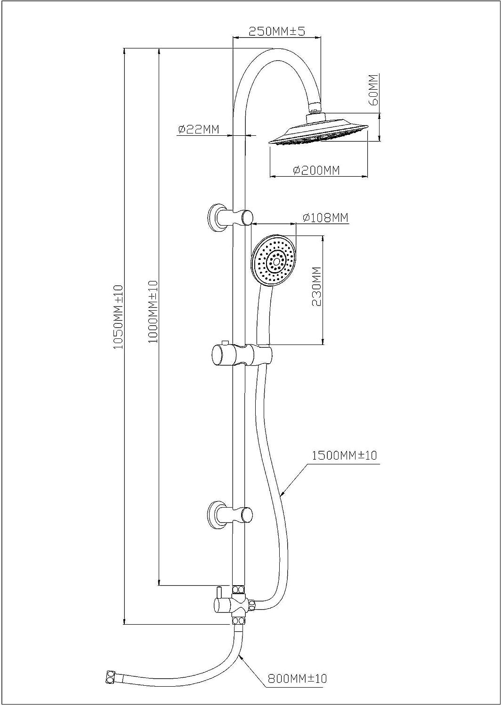 Columna de ducha Eisl DX1005CS-A, DX1005CS-A: Amazon.es: Bricolaje ...