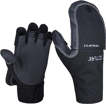 Mens Ladies Thermal Fingerless Half Gloves Adults Shooting Fishing Winter Warm