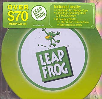 leapfrog giftset talking words factory math circus letter factory dvd