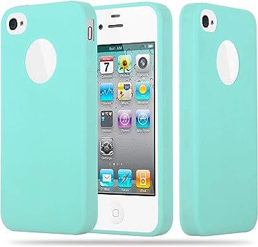 Cadorabo Funda Para Apple Iphone 4 Iphone 4s En Candy Azul Amazon Es Electrónica