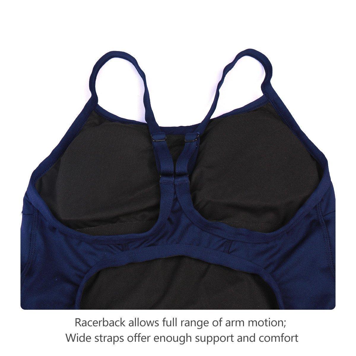 Baleaf Women's Athletic Training Adjustable Strap One Piece Swimsuit Swimwear Bathing Suit Navy Size 38 by Baleaf (Image #5)