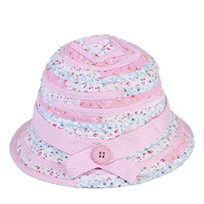 UPF 50+ Baby Toddler Girls Sun Protection Bucket Hat with Chin Strap ... 01e27e6b2c68