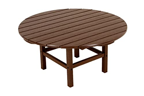 POLYWOOD RCT38MA Round 38 Conversation Table, Mahogany
