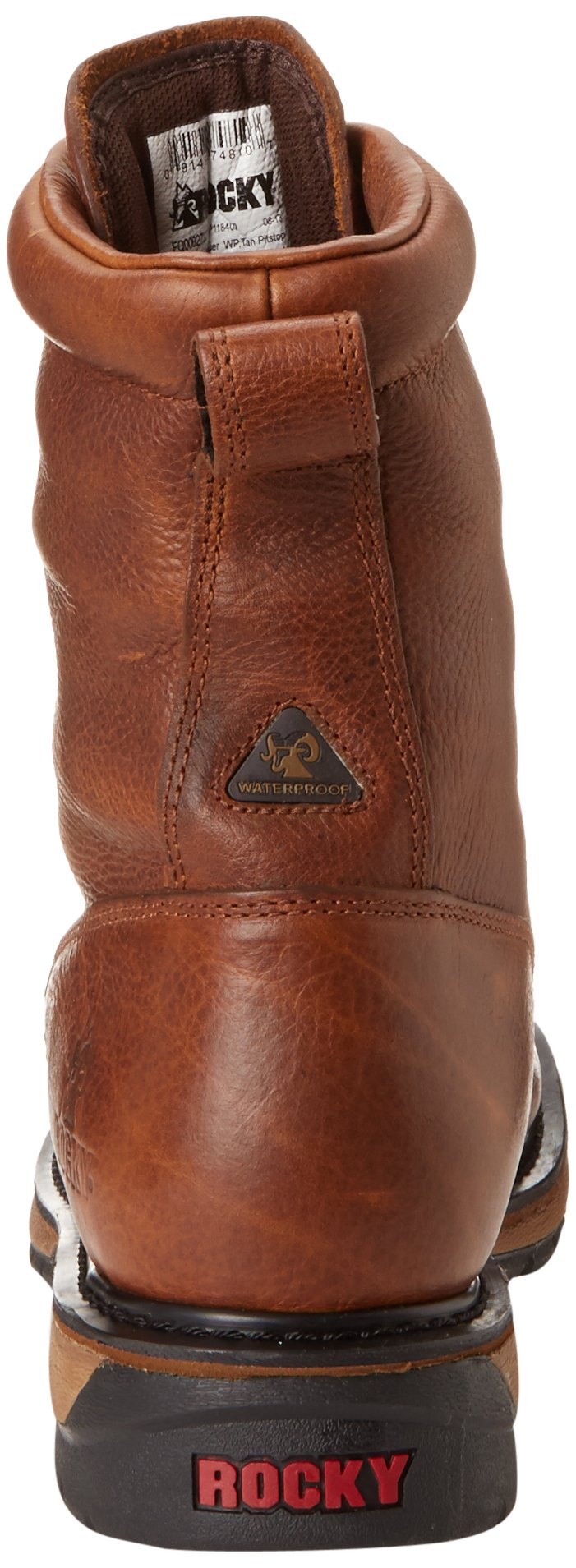 Men's Rocky 8'' EH Ride Lacer Work Boots BROWN 7.5 W by Rocky (Image #2)