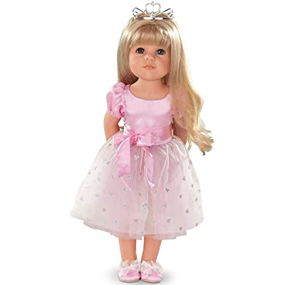 """Gotz Hannah Princess 19.5"""" Blonde Poseable Doll with Blue Eyes and Additional Outfit: Toys & Games"""