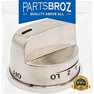 EBZ37189611 Burner Control Knob for LG Gas Ranges - Stainless Steel by PartsBroz - Replaces Part Numbers AP4447911, 1463916, AH3534129, EA3534129, EBZ37189601, PS3534129