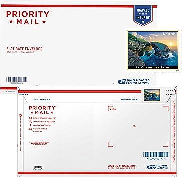 Prioridad de prepago tasa de soporte de sobre de correo con 2016 la cueva del Indio Sello: Amazon.es: Oficina y papelería
