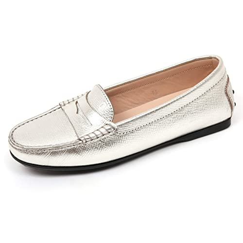 Tod's Argento Shoe C9066 Woman35 Loafer Scarpa Donna Mocassino cTlK13FJ