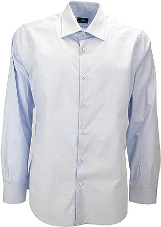 Camisa De Hombre Vestido De Azul De Popelina De Filafil ...