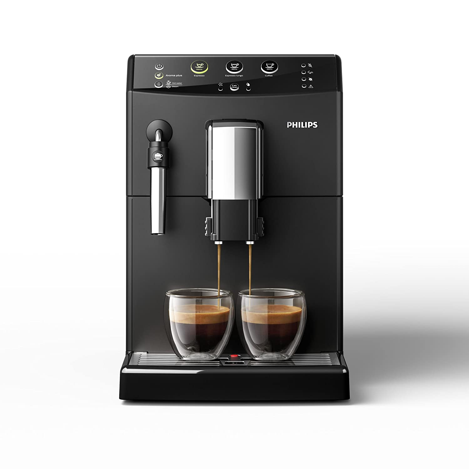 Philips 3000 series - Cafetera (Independiente, Máquina espresso, 1,8 L, Molinillo integrado, 1850 W, Negro)