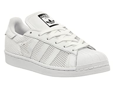 best service 2647d 5be8a Adidas Superstar 1 White Mono Mesh - 12 UK  Amazon.co.uk  Shoes   Bags