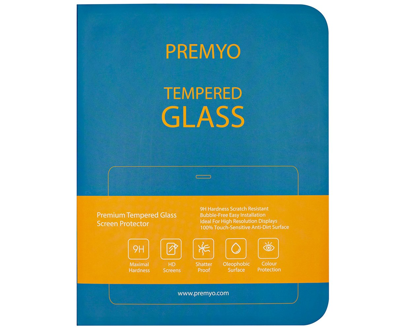 PREMYO Cristal Templado Protector de Pantalla Compatible con Samsung Galaxy Tab A 9.7 Dureza 9H Bordes 2,5D Sin Burbujas contra Ara/ñazos