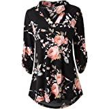 Zattcas Womens Floral Printed Tunic Shirts 3/4...