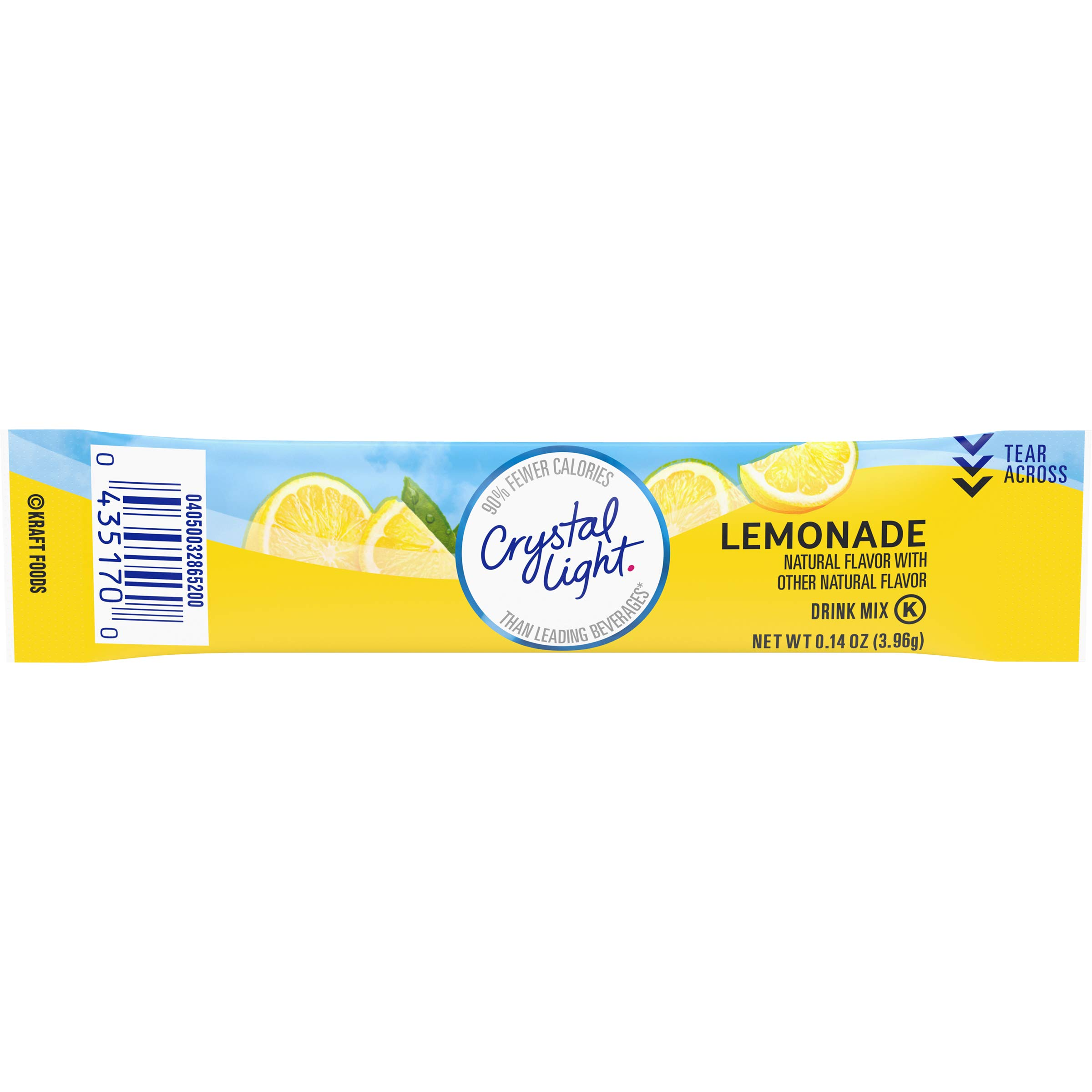 Crystal Light Sugar Free Lemonade Powdered Drink Mix, Caffeine Free, 0.14 oz Packet pack of 12 cartons with 10 each