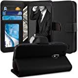 Moto G4 / G4 Plus Case, TAURI [Stand Feature] Wallet Leather Case with Card Pockets Protective Case Flip Cover For Motorola Moto G 4th Generation / Moto G Plus 4th Gen - Black