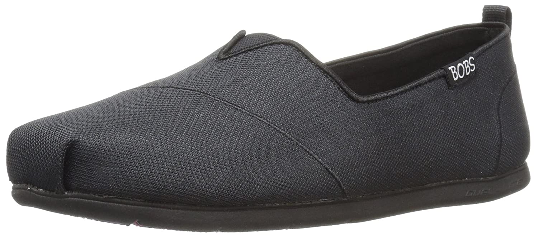 Skechers BOBS from Women's Plush Lite Flat B01JMEUASG 7.5 B(M) US|Black/Black Chic