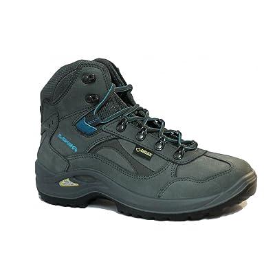 Lowa Chaussures de trekking Stratton DLX Femme GTX Mid Ws All Terrain Gris/Turquoise