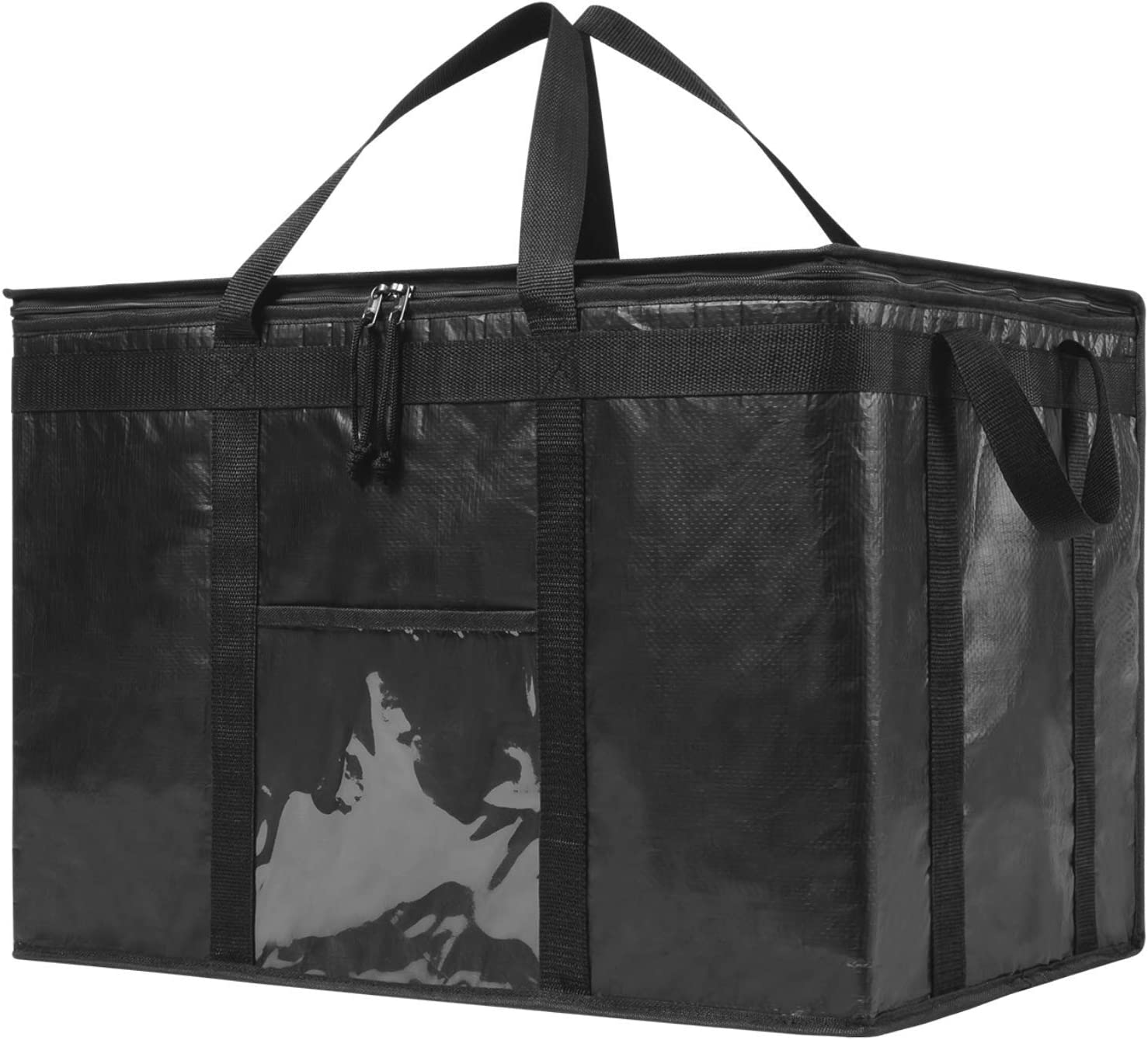 NZ Home XXXL Commercial Food Delivery Bag, Insulated Grocery Bag | Ideal for Professional Food & Groceries Delivery Restaurant, Catering, Buffet Server Transport | YKK Dual Zipper (XXXL 1 Pack)