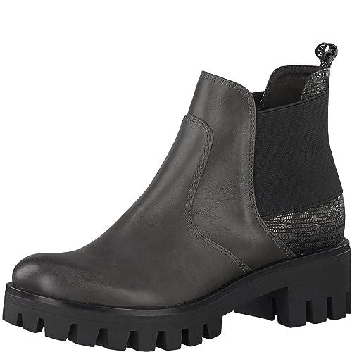 Tamaris Damen Chelsea Boots Schwarz, Größenauswahl:40