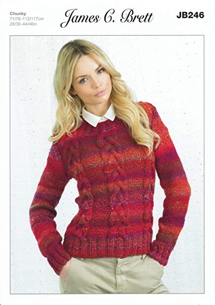 e34b86c3b02a Ladies Sweater JB246 Knitting Pattern from James C Brett. Knit with ...