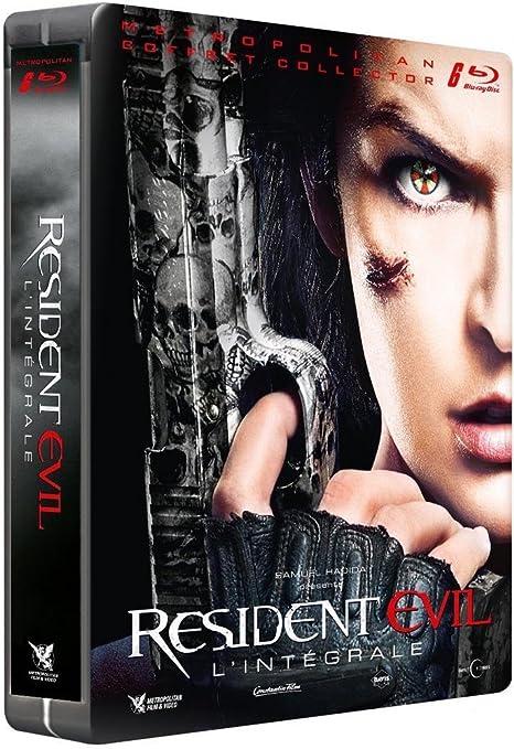Resident Evil Steelbook Collection 1-6 Steelbook 6 Discs Blu-ray Region Free / Import / Resident Evil