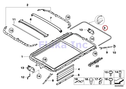 BMW Genuine Sliding Lifting Roof Sunroof Seal