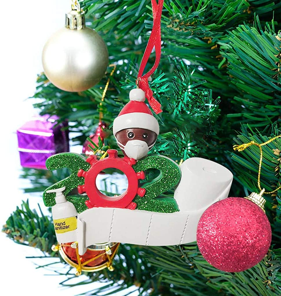 Toddlers Kids 2020 Latest Christmas Decor Survived Family 2020 Ornament,Decorating Kit Creative Gift for Friends