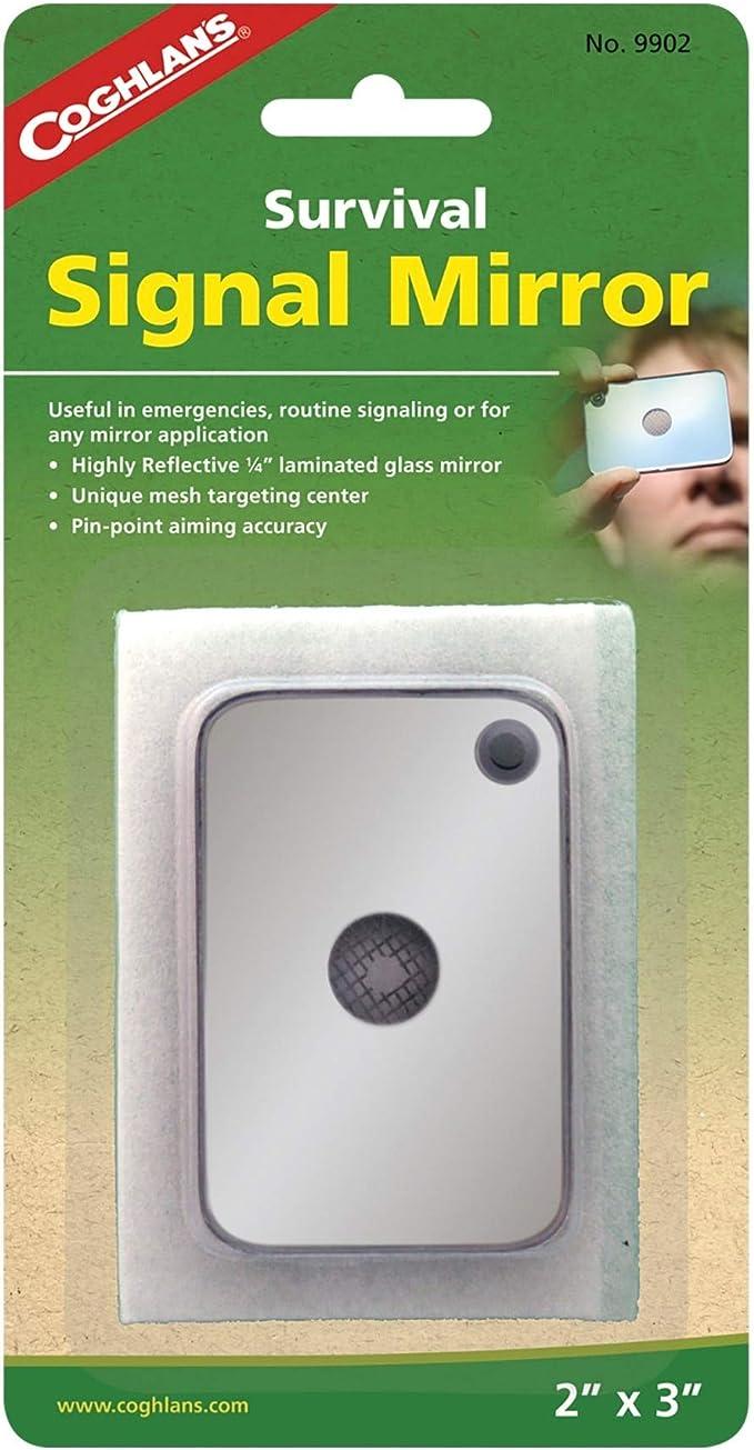 1pc Portable Emergency Floating Signal Mirror Suvival EDC reflective Mirr.hc