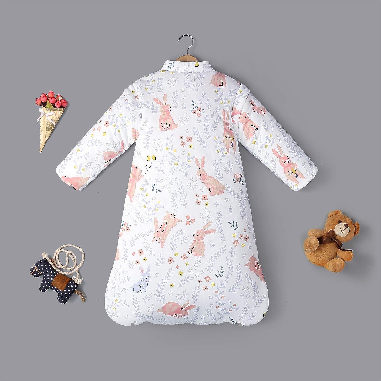 Saco de dormir de invierno para beb/é 3,5 tog varios tama/ños de algod/ón org/ánico desde el nacimiento hasta los 4 a/ños de edad blanco blanco Talla:S saco de dormir para ni/ños 3-6 Months
