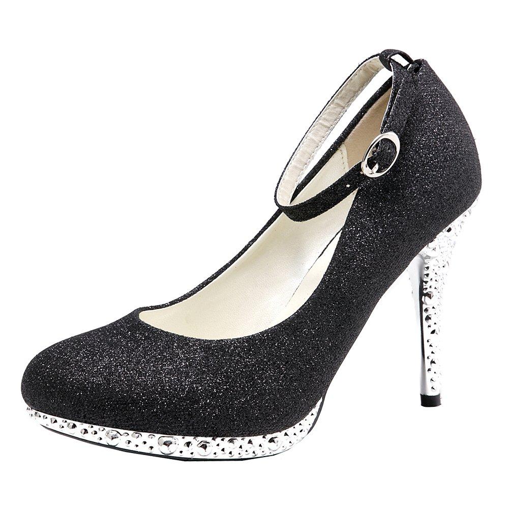 Getmorebeauty - Zapatos de Boda para Mujer con Lentejuelas Brillantes