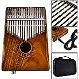 XuBa 17 Keys EQ Kalimba Acacia Thumb Piano Link Speaker Electric Pickup with Bag Cable