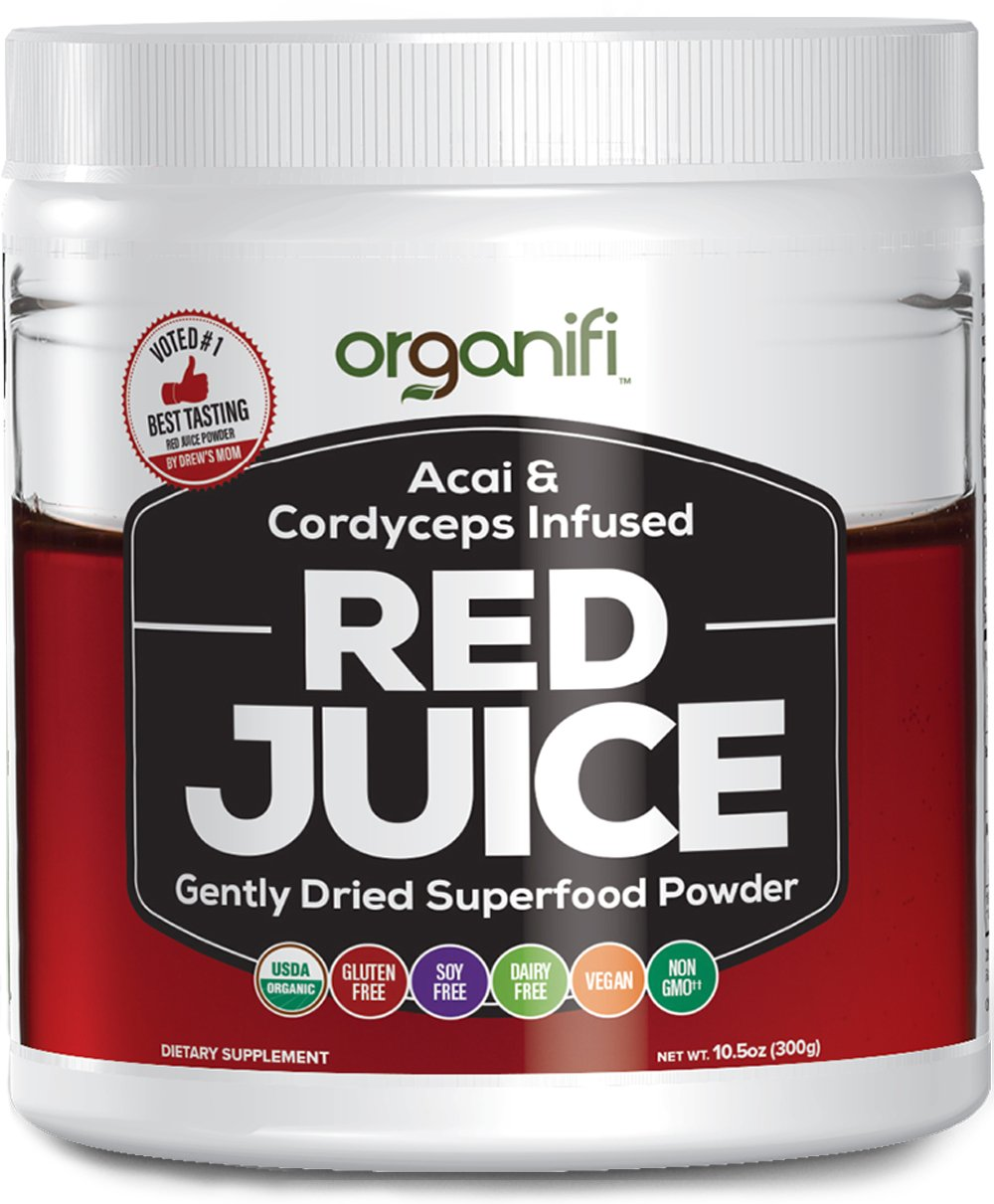 Organic Superfood Powder - Organifi - Red Juice Super Food Supplement - 30 Day Supply - USDA Certified Organic, Boosts Metabolism, and Reverses The Signs Of Aging